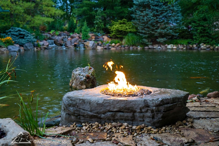 Aquascape Faux Stone Fire Pit (MPN 58091)
