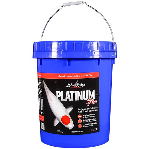 Blue ridge platinum pro fish food 14 lb best prices on for Professional fish keepers