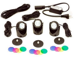 Calpump LEK3-10W Egglite Kit, 3 lights, 16' extention cable, transformer (MPN 517502)