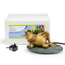 Aquascape Lazy Frog on Lily Pad Fountain w/pump (MPN 78017)