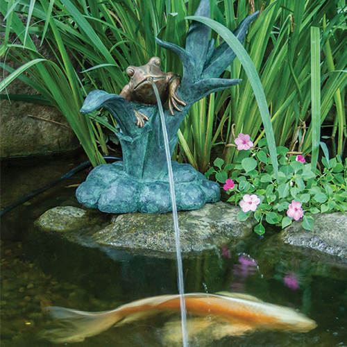 Aquascape Frog on Reed Spitterw/ Pump (MPN 78211)