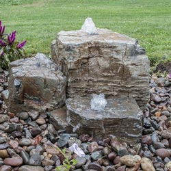 Aquascape Natural Pagoda Fountain Stone - Set of 3 (Small, Med, Large) (MPN 78219)