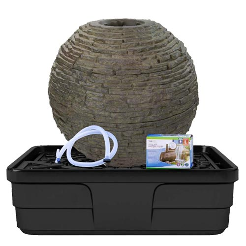Aquascape Medium Stacked Slate Sphere Landscape Fountain Kit (MPN 78290)