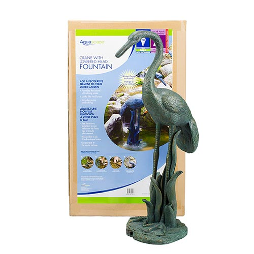Aquascape Crane with Lowered Head Fountain (MPN 78313)