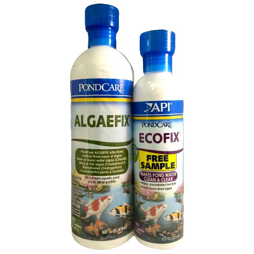 API Pond AlgaeFix 8 oz with Free Pond Care Ecofix 8 oz. (MPN 169A)