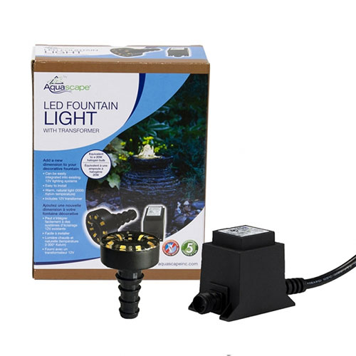 Aquascape LED Fountain Accent Light 12 volt with 6-watt Transformer (MPN 84009)