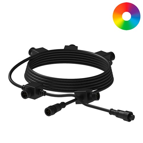 Aquascape 25' 5-Outlet Color-Changing Lighting Extension Cable (MPN 84070)