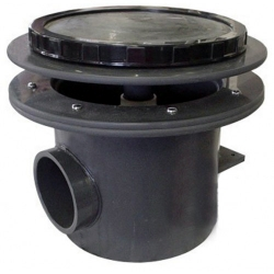 "Aquadyne Rhino II Bottom Drain WITHOUT air bladder diffuser, 4"" pipe (MPN RH2-O)"