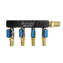 """Matala 4 Way Heavy Duty Manifold 3/8"""" (MPN SC4-38)"""