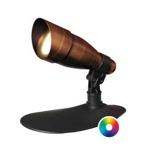 Anjon Manufacturing 9 Watt LED Color-Changing Bronze Spotlight (MPN 9WCCKIT-BZ)