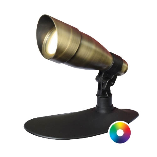 Anjon Manufacturing 9 Watt LED Color-Changing Brass Spotlight (MPN 9WCCKIT)
