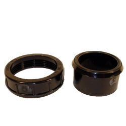 """Aqua Ultraviolet Union Half, 2"""", No thread with O-Ring and Union Ring, Black (MPN A40264)"""
