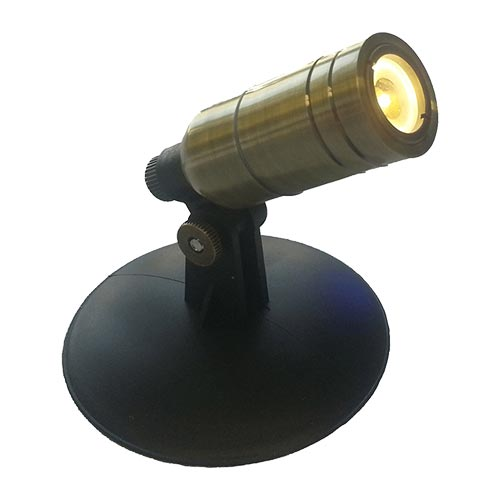 Anjon Manufacturing 1 Watt Small Brass LED Light (MPN MS1W)