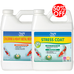 API Pond Chlorine & Heavy Metal Neutralizer 32 oz. with 50% OFF on Stress Coat 32 oz. (MPN 141 G)