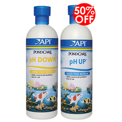API Pond pH Down 16 oz. with 50% Off on pH Up 16 oz. (MPN 170 B)