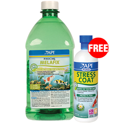 API Pond Mela Fix 64 oz. with Free Stress Coat 16 oz. (MPN 176 C)