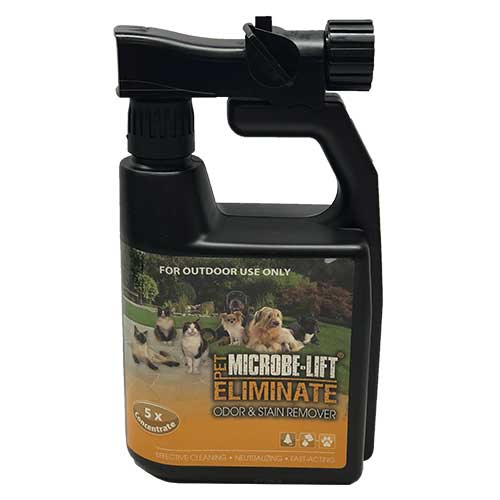 Microbe-Lift Eliminate Odor & Stain Remover - Cat/Dog  32 oz (OUTDOORS) (MPN ELIMOUTQ)