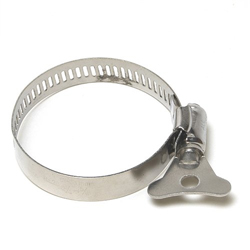 Alpine 1-1/2 to 1-Inch #20 Stainless Winged Hose Clamps, Mini (MPN HTSS100112PK)
