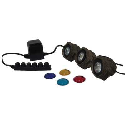 EasyPro (3) 10-Watt Halogen Rock Light Set and Transformer (MPN MRK3)
