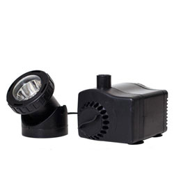 Pond Boss 435 GPH Fountain Pump with Low Water Auto Shut-off Feature with Light (MPN PF420ASL)