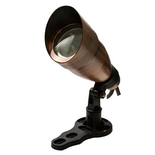 Anjon Manufacturing 9-Watt Bronze RGB Color Changing Spot Light w/ Hood (MPN 9WCC-BZ)