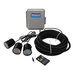 Kasco WaterGlow RGB LED Lighting for ½-1 HP Fountains 250 ft. Cord (MPN RGB3C5-250)