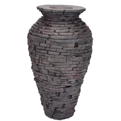 98939 - Aquascape Small Stacked Slate Urn Fountain (MPN 98939)