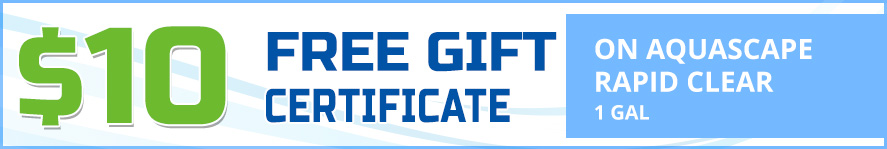 Aquascape Rapid Clear 1 gallon free gift certificate