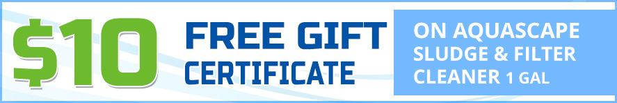 Aquascape Sludge & Filter Cleaner Free Gift Certificate