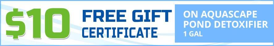 Pond Detoxifier 1 gallon free gift certificate