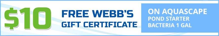 Pond Starter Bacteria gift certificate