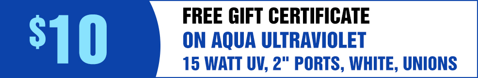 Aqua Ultraviolet 15 Watt Uv 2 Quot Ports White Unions Mpn