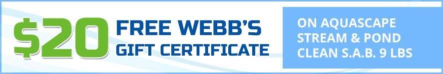 Aquascape Stream & Pond Clean S.A.B. 9 lbs Free Gift Certificate
