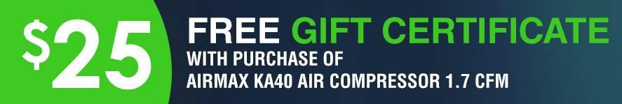 Airmax KA40 Air Compressor Free  Gift Certificate
