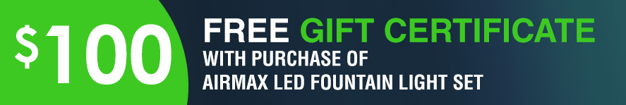Airmax LED 4 Light Set, 100' cord Free 100 Gift Certificate