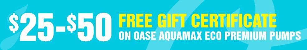 AquaMax Eco Premium Pumps 25-50 free gift certificate