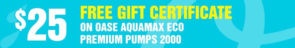AquaMax Eco Premium Pumps 25 free gift certificate