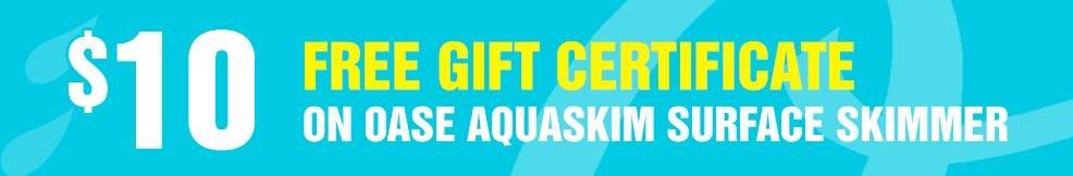 AquaSkim Surface Skimmer 10 free gift certificate