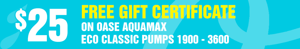 Aquamax Eco Classic Pumps 25 free gift certificate