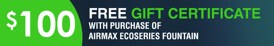 EcoSeries Fountain Free 100 gift certificate