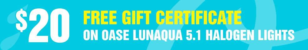 LunAqua 5.1 Halogen lights 20 free gift certificate