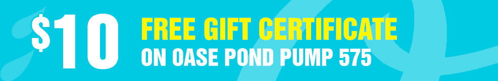 OASE Pond Pump 575 free gift certificate