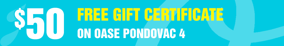 Oase Pondovac-4 50 free gift certificate