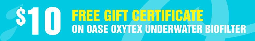OxyTex Underwater Biofilter 10 free gift certificate