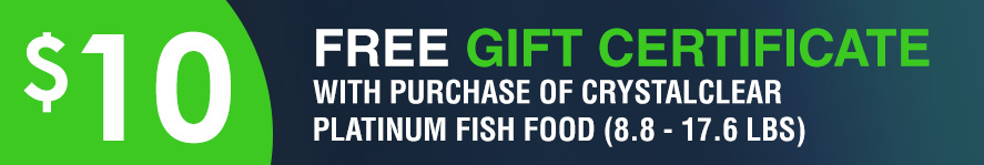 Platinum Fish Food Free 10 gift certificate