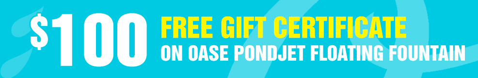 PondJet Floating Fountain 100 free gift certificate