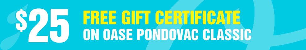 Pondovac Classic 25 free gift certificate