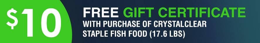 Staple Fish Food Free 10 gift certificate