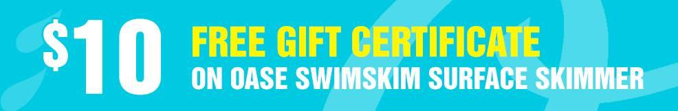 SwimSkim Surface Skimmer 10 free gift certificate