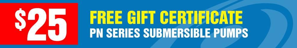 Tsurumi Pond Pump free gift certificate